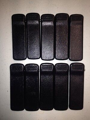 10 Used Motorola Belt Clips for CP200 CP150 PR400 Radios