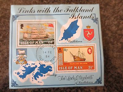 Isle of Man - 1984 - Links with Falkland Islands mini sheet