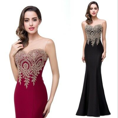 Babyonline Long Evening Party Formal Dress Prom Ball Gown Bridesmaid Dresses Bew