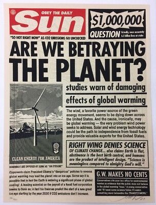 Shepard Fairey Sun Paper... Are We Betraying The Planet Obey Giant Print