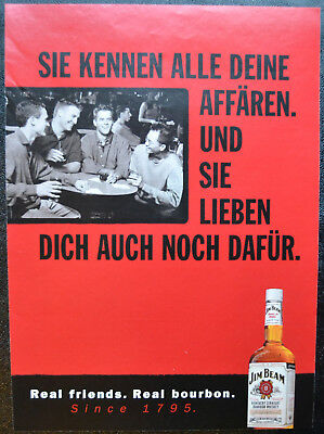 Original Werbung Jim Beam Real friends