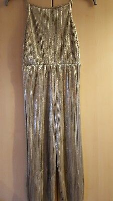 Girls Gold Jumpsuit Age 10 Years worn once M&Co Kylie