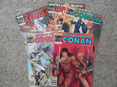 Conan The Savage Sword of Conan Lot of 5 # 106,107,109,113 Graphic Novel Marvel
