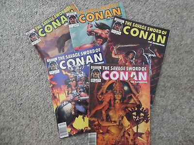 Conan The Savage Sword of Conan Lot of 5 # 114,117,124,125 Graphic Novel Marvel