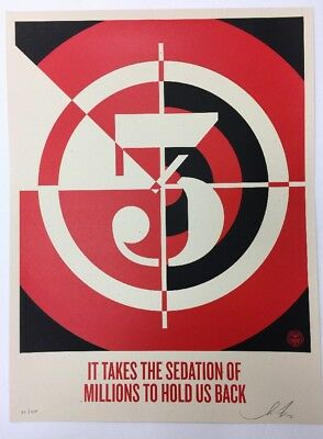 Shepard Fairey Sedation of Millions Signed/Numbered Obey Giant Print