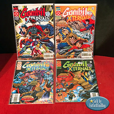 Gambit & X-Ternals  #1-4 (4 Books) Entire Set Age Of Apocalypse Marvel1995 Vf/nm