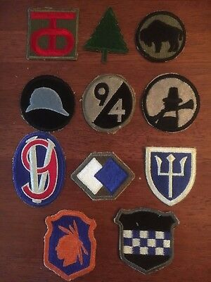 LOT: WWII Era US Infantry Shoulder Patches 90th-99th Divisions