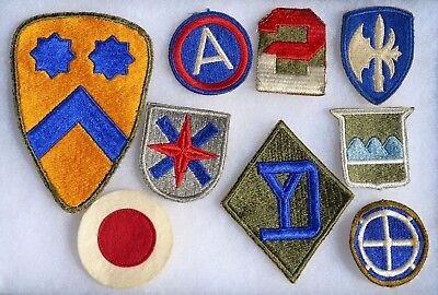 Lot #7 Us Wwii Patches U.s. Uniform Insignia American Military Ww2 Cloth Patch