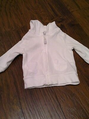 Carters 6 month boy or girl white Cotton jacket NWOT