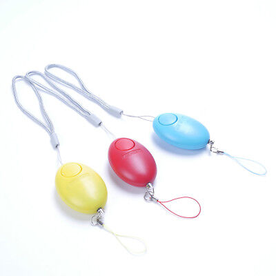 Mini Egg Self Defense Keychain Personal Alarm Emergency Survival Whistle Rondom