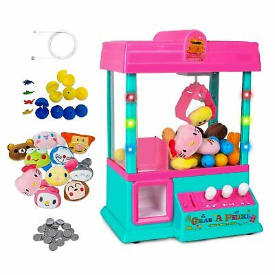Claw Machine Game LED Lights Grabber Home Arcade Carnival Toy Crane w/USB new