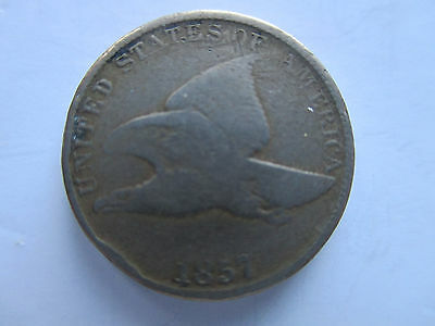 1857 U.S. Copper Nickel Flying Eagle Cent