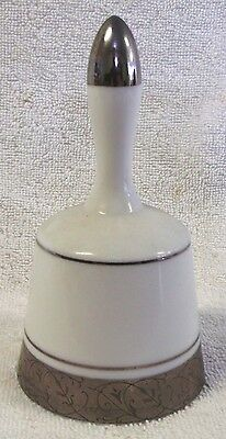 """Vintage Bells--White & Gold--Ceramic Bell--5"""" Tall--Very Nice--Very Collectible!"""