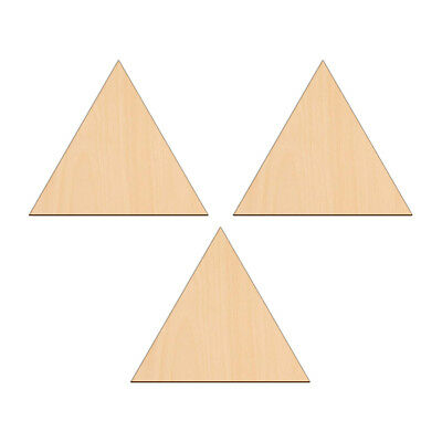 EQUILATERAL TRIANGLE Shape Craft Blank 5cm BIRCH Wood Decoration Embellishment