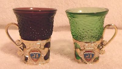 """Vintage Collectibles--Decorative """"montana"""" Shot Glasses-Very Nice & Collectible!"""