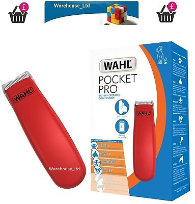 Wahl 9961/317 Pocket Professional Animal Trimmer Kit - Red