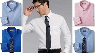 Mens Formal Shirt Van Heusen Tailored Fitted Cotton Rich Easycare Long Sleeve