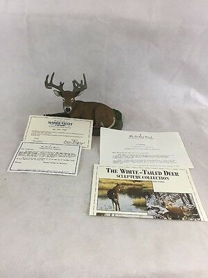 "Danbury Mint ""SUMMER VELVET"" White-Tailed Deer Sculputure by Bob Travers"