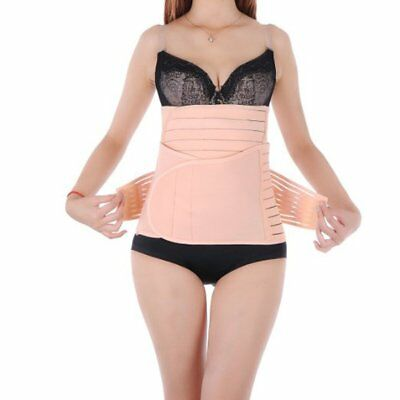 3 in 1 Breathable Invisible C-section Recovery Belly Belt Body Shaping Girdle M