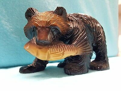 Vintage Hand carved Ainu Bear from private collection