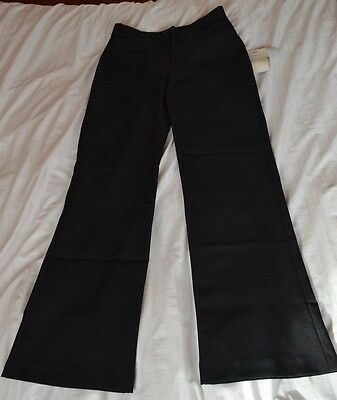 Girl's Black bootcut school trousers 30 / 30 NEW