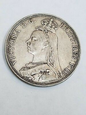 1890 Great Britain Crown .925 Silver AC 6
