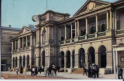 Original Post Card GPO Brisbane Early 1900s