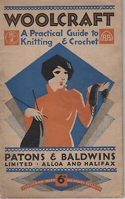 Vintage retro P & B  WOOLCRAFT A PRACTICAL GUIDE TO KNITTING CROCHET