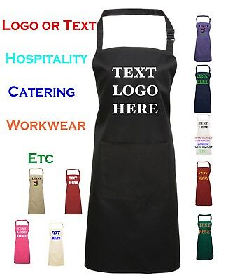 Personalised Custom printed apron Good quality Baking chef cooking Logo Text