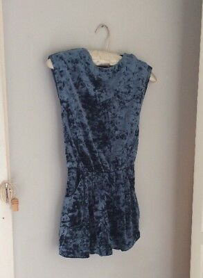 Gorgeous Next Crushed Velvet Playsuit,  Party , Age 9