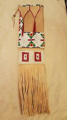 Fantastic, Authentic, Southern Cheyenne Beaded And Quilled Pipe Bag