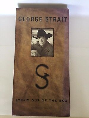 GEORGE STRAIT: STRAIT OUT OF THE BOX 4-DISC, CD SET Very Good
