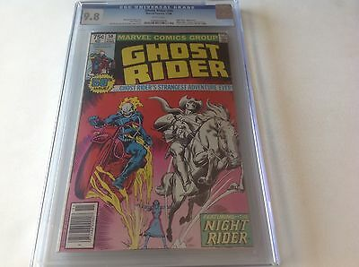 Ghost Rider 50 Cgc 9.8 White Pgs Highest Graded Night Rider Too! Marvel Comics
