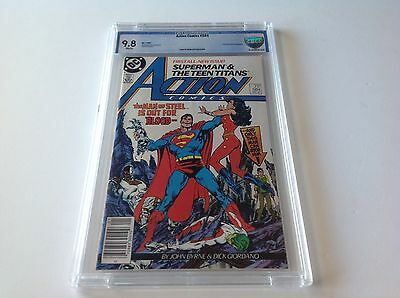 Action Comics 584 Cbcs 9.8 White Pages Teen Titans Nickel City Pedigree Like Cgc