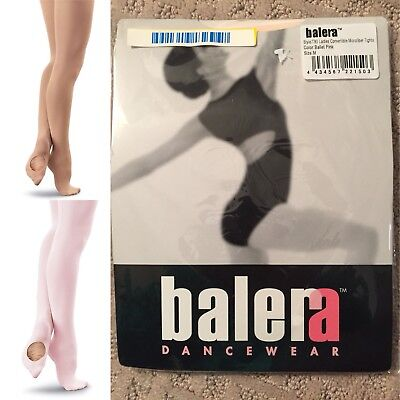 Balera T90 Ladies Convertible Microfibre Dance Tights, Ballet Pink & Lt Suntan