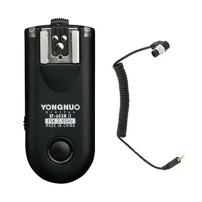 1 x Yongnuo RF-603 II N1 Wireless Flash Trigger Transceiver for Nikon D700 D3 US