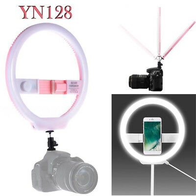 YONGNUO YN128 LED Ring Light Pink for Beauty Blogger Video Selfie iPhone Samsung