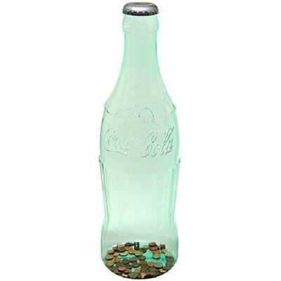 Large Bottle Bank Coin Saving Container Kids Adults Safety Money 24 Inch Plastic