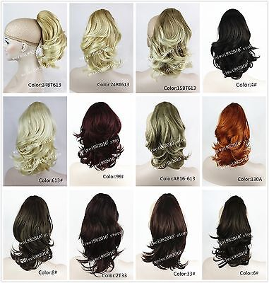 Fashion Ponytail Extensions Hairpiece wavy Claw clip in on Hair Piece 12 inches