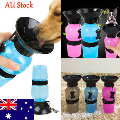 AU Pet Travel Water Bottle Portable Dog Cat Drinking Cup Animals Outdoor  Feeder