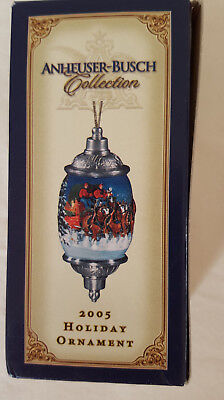 """Nib 2005 Anheuser Busch Collectible Christmas/holiday Ornament..4.5"""" L"""