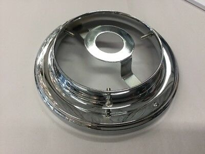 "Chrome Battern Fixture 4 1/4""  Shade Fitting Art Deco Light Flush Ceiling"
