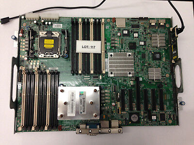 Genuine HP Server Motherboard 461317-002 606019-001 REV 0A With Tray, CPU, & Hea