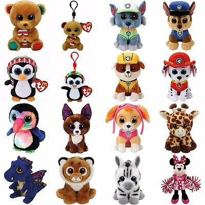 "Ty Beanie Boos 6"" or Clips 3-4"" or Beanie Babies 8""- Choose one or more plush"
