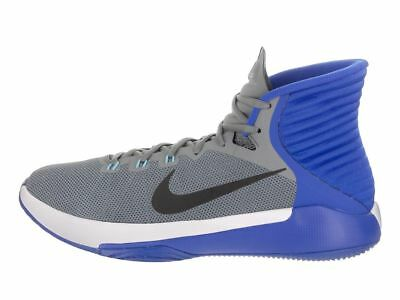 Mens Nike Prime Hype DF 2016 Basketball Shoes Size 10.5 Grey Blue 844787 006