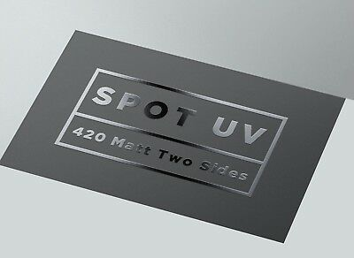 Spot UV 500 Business Cards Printed Both Sides 420 GSM thick card