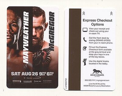 MAYWEATHER-[50-0] vs McGREGOR---MGM GRAND---Las Vegas,NV--Room key