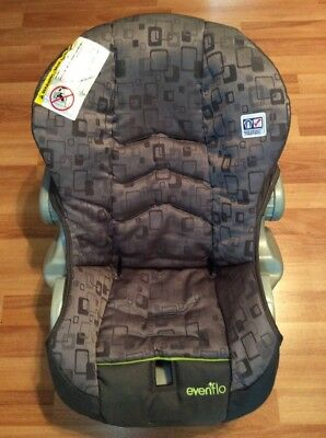 EVENFLO Embrace Baby Car Seat Cover Cushion Replacement Part Gray Green