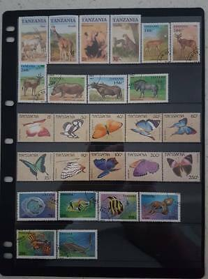 Tanzania and Malawi Stamps - 6 Pages