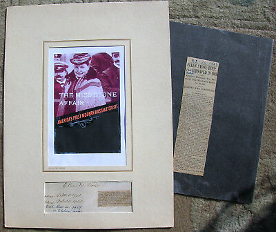 Ellen Stone(America's First Hostage Crisis)Autograph & Picture Matted  Very Rare
